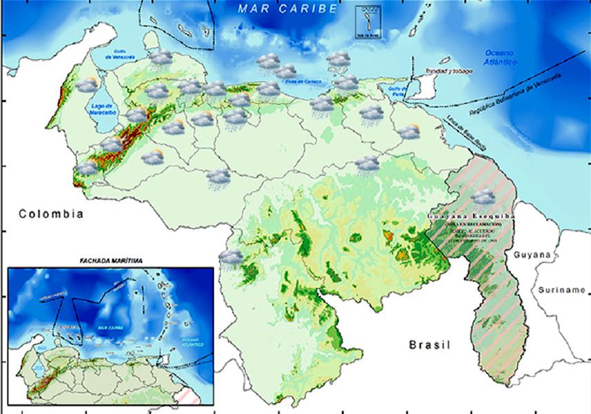 Inameh mapa de Venezuela lluvias