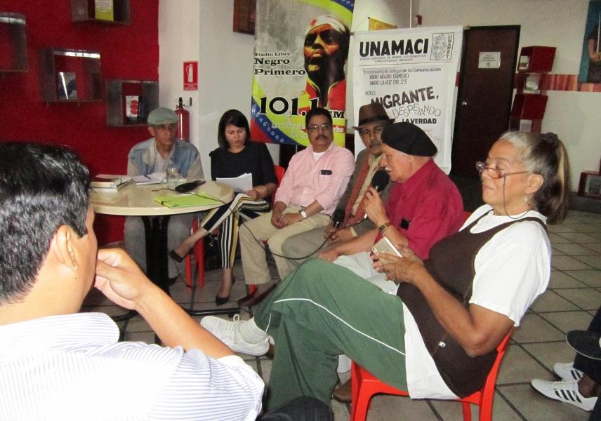 Durante el evento, los comunicadores disertaron sobre la situación de la migración en Venezuela y el conjunto de vejaciones que la acompaña