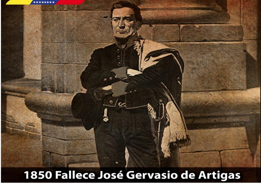 Mandatario Nacional recordó 168 años de la muerte de José Gervasio de Artigas