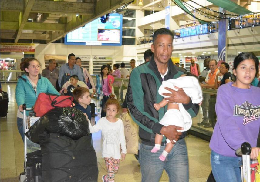 95 compatriotas desde Ecuador