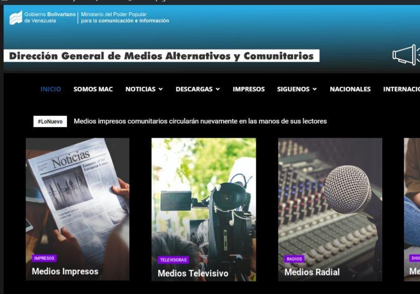 La nueva plataforma web condensa información de varias vertientes comunicacionales de medios alternativos