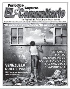Portada Periódico Capurro El Comunitario Nº 95